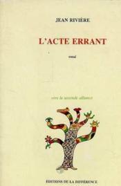 Acte Errant (L') - Couverture - Format classique