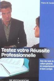 Testez Votre Reussite Professionnelle Poche - Couverture - Format classique