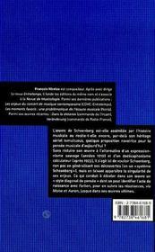La Singularite Schoenberg - 4ème de couverture - Format classique