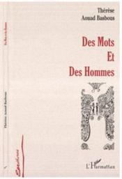 Des Mots Et Des Hommes - Couverture - Format classique
