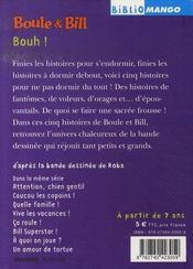 Boule et Bill t.9 ; bouh ! - 4ème de couverture - Format classique