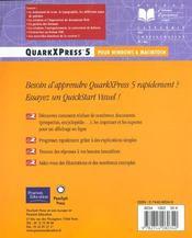 Quarkxpress - 4ème de couverture - Format classique