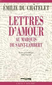 Lettres au marquis de st lambert - Intérieur - Format classique