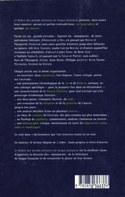 Le Robert Des Grands Ecrivains De Langue Francaise - 4ème de couverture - Format classique