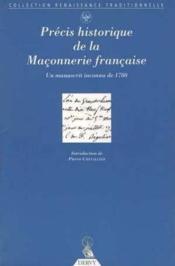 Precis Historique De La Maconnerie Francaise - Couverture - Format classique