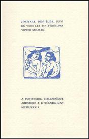 Journal des îles ; vers les sinistrés - Couverture - Format classique