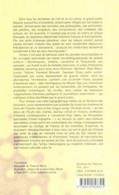 Dictionnaire Critique Des Historiens - 4ème de couverture - Format classique