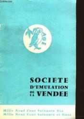 Societe D'Emulation De La Vendee - Couverture - Format classique