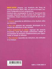 Espaces vectoriels ; applications linéaires ; matrices ; diagonalisation et trigonalisation - 4ème de couverture - Format classique