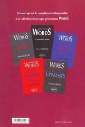 More Words Plus De Vocabulaire Anglais 1500 Exercices Corriges Et Commentes - 4ème de couverture - Format classique