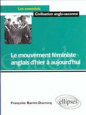 Le Mouvement Feministe Anglais D'Hier A Aujourd'Hui - Intérieur - Format classique