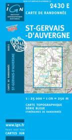 Saint-Gervais d'Auvergne - Couverture - Format classique