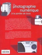 La Photographie Numerique A La Portee De Tous - 4ème de couverture - Format classique