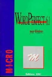 Vente livre :  Wordperfect 6.1 pour Windows  - Collectif