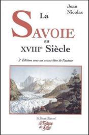 Savoie au XVIIIe siècle (2e édition) - Couverture - Format classique