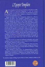 L'Epopee Templiere - 4ème de couverture - Format classique