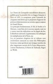 Traitez Du Cosmopolite - 4ème de couverture - Format classique