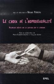 Le choix de l'homosexualité - Intérieur - Format classique