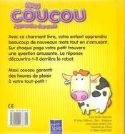 Maxi Coucou ; Apprendre Des Mots - 4ème de couverture - Format classique
