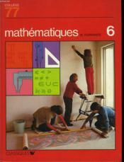 Mathematiques - 6° - Couverture - Format classique