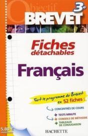 Fiches detachables ; francais ; 3eme