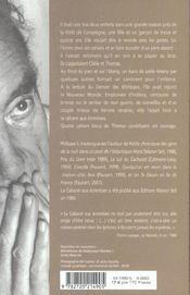 La Cabane Aux Ecrevisses - 4ème de couverture - Format classique