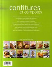 Confitures et compotes - 4ème de couverture - Format classique
