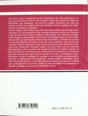 New York Construction Historique D'Une Metropole - 4ème de couverture - Format classique