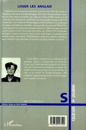 Loger Les Anglais ; Le Logement Social En Angleterre De 1848 A 1939 - 4ème de couverture - Format classique