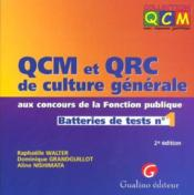 Qcm Qcr Culture Generale 1 - Couverture - Format classique