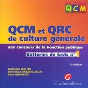 Qcm Qcr Culture Generale 1 - Intérieur - Format classique