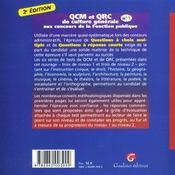 Qcm Qcr Culture Generale 1 - 4ème de couverture - Format classique