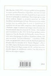Manuel De Magie Pratique - 4ème de couverture - Format classique
