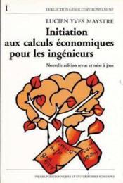 Initiation Calc.Economiq - Couverture - Format classique