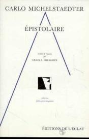 Epistolaire - Couverture - Format classique