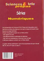 Series numeriques - 4ème de couverture - Format classique