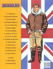 Biggles t.15 ; l'oasis perdu t.1 - 4ème de couverture - Format classique