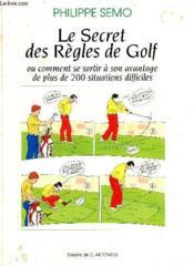 Le secret des regles de golf - Couverture - Format classique