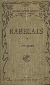 Les Cinq Livres De F. Rabelais Avec Notes Et Glossaire. Tome 1. - Couverture - Format classique