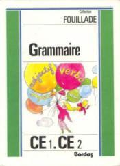 Grammaire Ce1/Ce2 - Livre De L'Eleve - Couverture - Format classique