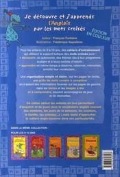 L'anglais par les mots croisés ; initiation 8/10 ans - 4ème de couverture - Format classique