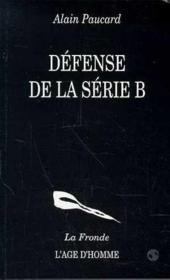 Defense De La Serie B - Couverture - Format classique