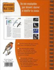 Oiseaux de france - 4ème de couverture - Format classique