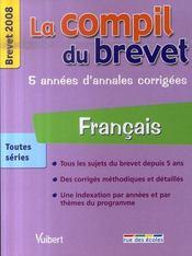 Français ; brevet 2008 - Intérieur - Format classique