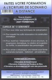 Faire D'Un Bon Scenario Un Scenario Formidable - 4ème de couverture - Format classique