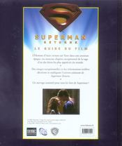 Superman returns - 4ème de couverture - Format classique