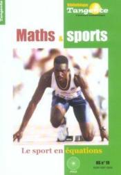 Maths Et Sports - Tangente - Couverture - Format classique