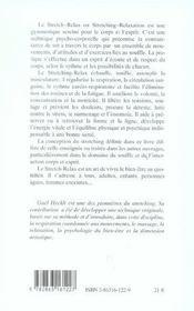Stretch-Relax ; L'Art Du Bien-Etre - 4ème de couverture - Format classique