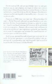 La psychanalyse est-elle un exercice spirituel ? réponse à michel foucault - 4ème de couverture - Format classique