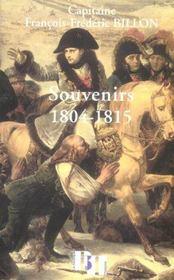 Souvenirs 1804-1815 - Intérieur - Format classique